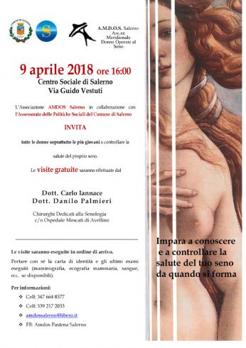 Controlli senologici gratuiti al Centro Sociale di Salerno - aSalerno.it