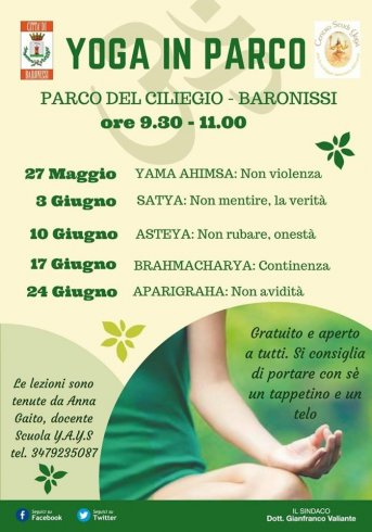 Yoga in parco a Baronissi - aSalerno.it