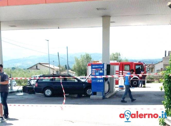 Distrugge una pompa di benzina, incidente a Contursi – LE FOTO - aSalerno.it