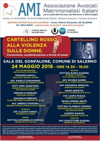 """""""Cartellino rosso alla violenza sulle donne"""" - aSalerno.it"""