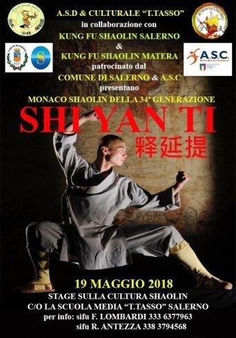 A Salerno arriva Shi Yanti: monaco guerriero di 34esima generazione del Tempio Shaolin - aSalerno.it