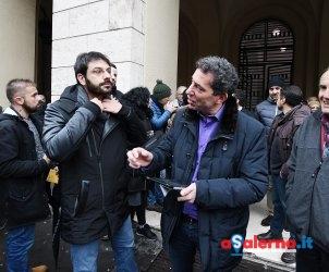Salerno Comune. Protesta del Movimento 5 Stelle