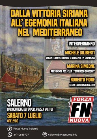 Sabato Roberto Fiore di Forza Nuova a Salerno - aSalerno.it
