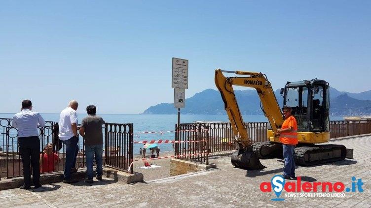 Discesa a mare in via Leucosia, al via i lavori – LE FOTO - aSalerno.it