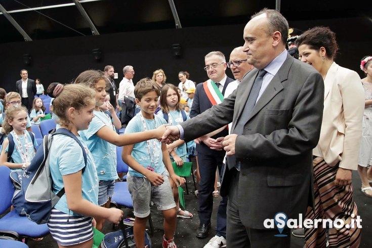 """Il Ministro Bonisoli a Giffoni: """"Questo è più di un festival, è innovazione"""" – LE FOTO - aSalerno.it"""