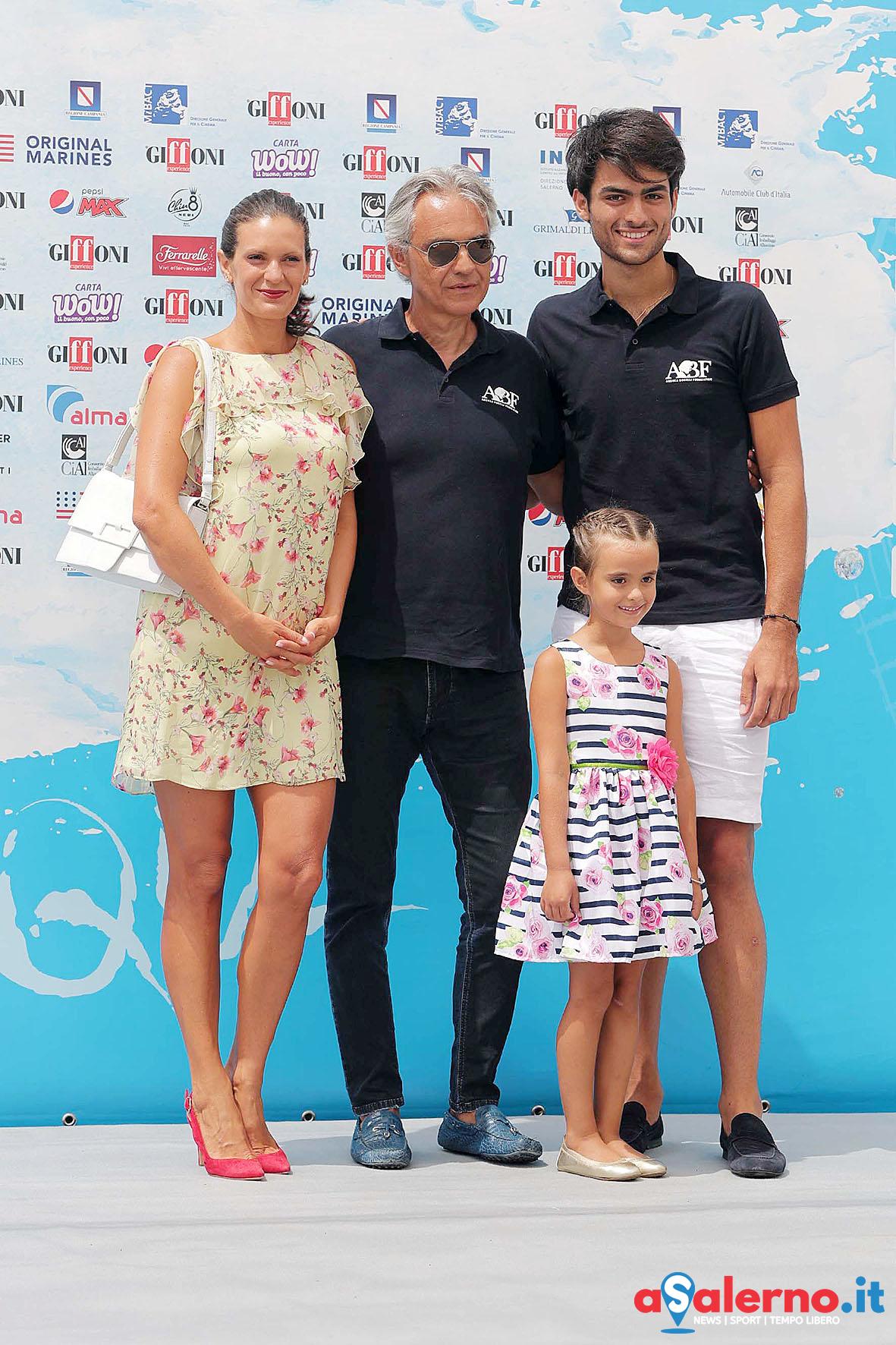 SAL - 20 07 2018 Giffoni. Nella foto Andrea Bocelli e famiglia. Foto Tanopress