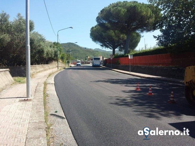Università, terminata riqualificazione della strada per accedere al campus - aSalerno.it