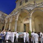 SAL - 21 08 2018 Salerno Duomo. Alzata del panno di San Matteo. Foto Tanopress