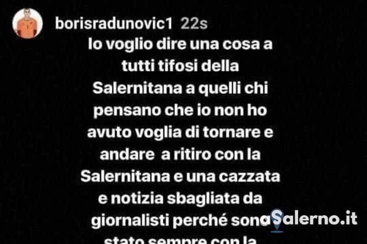 """Radunovic si sfoga su Instagram: """"Non è colpa mia se non sono tornato a giocare a Salerno"""" - aSalerno.it"""