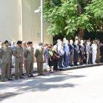 Salerno - Commemorazione Agenti Polizia De Marco - Bandiera vittime attentato terroristico 3-min