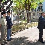 Salerno - Commemorazione Agenti Polizia De Marco - Bandiera vittime attentato terroristico 5-min