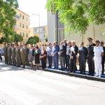 Salerno - Commemorazione Agenti Polizia De Marco - Bandiera vittime attentato terroristico 6-min