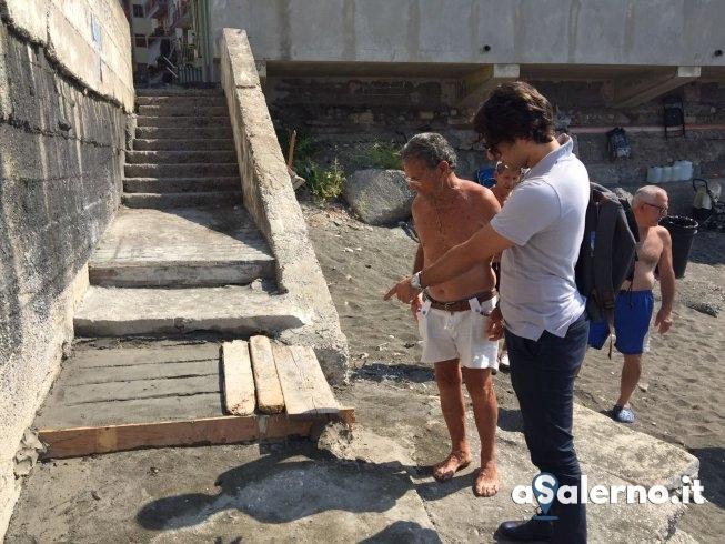 """Ripristinata scala al Porticciolo, Santoro: """"Missione compiuta"""" - aSalerno.it"""
