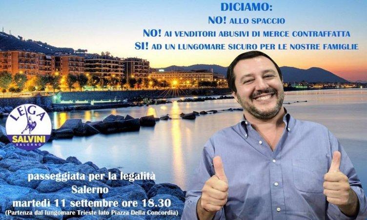 Lega Salerno, domani sul lungomare una passeggiata contro spaccio e abusivi - aSalerno.it