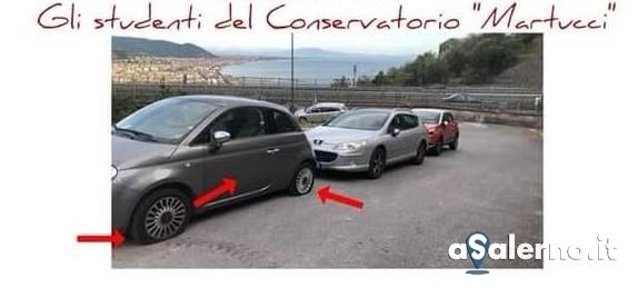Danni alle auto parcheggiate, gli studenti del Conservatorio rispondono cosi - aSalerno.it