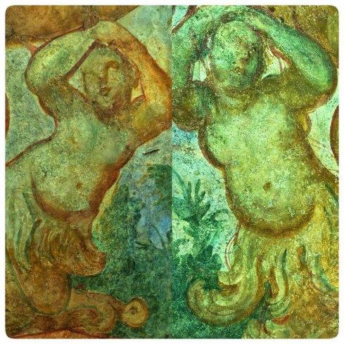 Restaurato l'affresco del primo livello del Giardino della Minerva - aSalerno.it