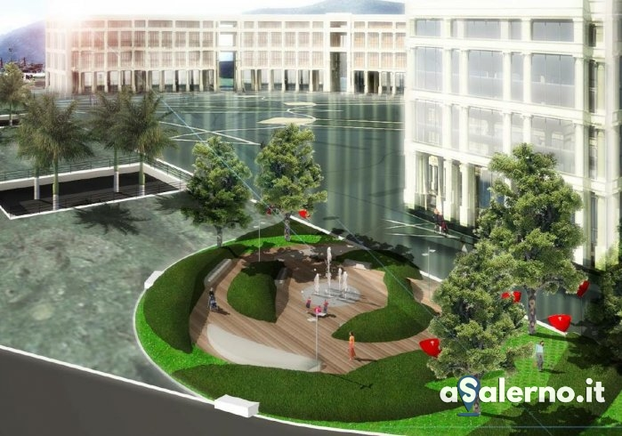 Completamento definitivo per Piazza della Libertà, ecco i render - aSalerno.it