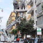 SAL - 01 10 2018 Salerno Via Trento. Montaggio luci d'artista. Foto Tanopress