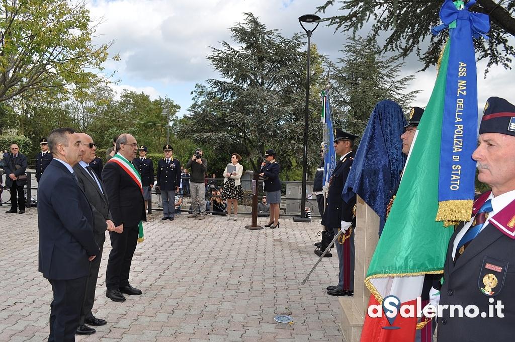 Momento della cerimonia di intitolazione Piazza a Giovanni Palatucci