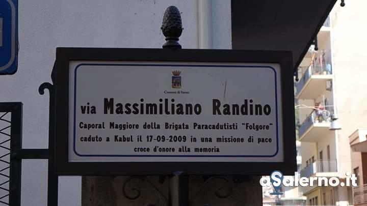 Il Comune di Sarno dedica una strada al Caporal Maggiore Massimiliano Randino - aSalerno.it