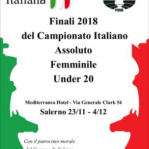 Locandina Finali scacchi 2018