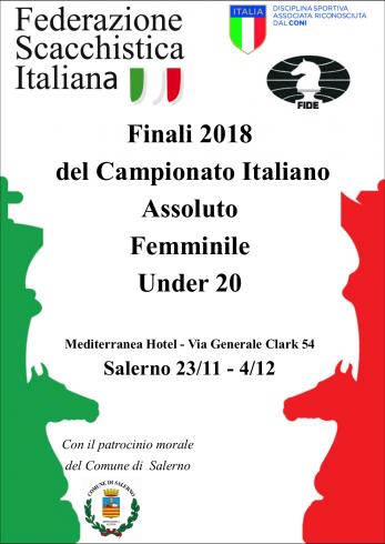 A Salerno le finali nazionali dei Campionati Assoluto Femminile Under 20 di Scacchi - aSalerno.it