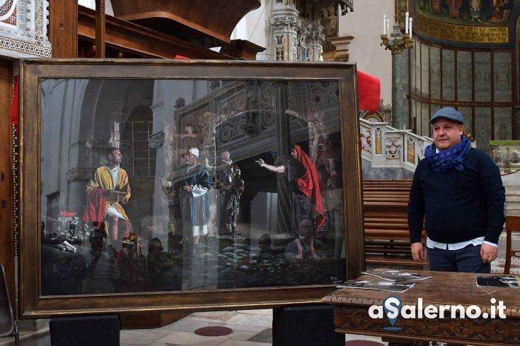 """Per il compleanno del Cardinale Martino l'opera """"Mt 9,9-13″ - aSalerno.it"""