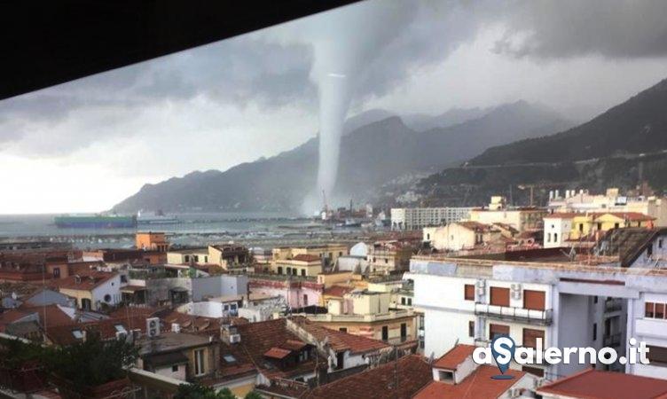 Tromba marina a Salerno – LE FOTO - aSalerno.it