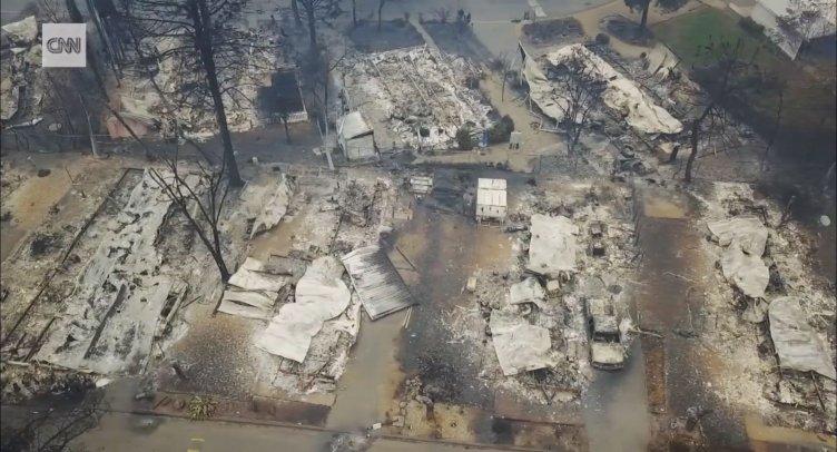 Inferno in California, il drone della Cnn dopo la devastazione - aSalerno.it
