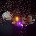 Dicembre 2018 - Il sindaco di Salerno, insieme alla sua famiglia, inaugura la Ruota Panoramica
