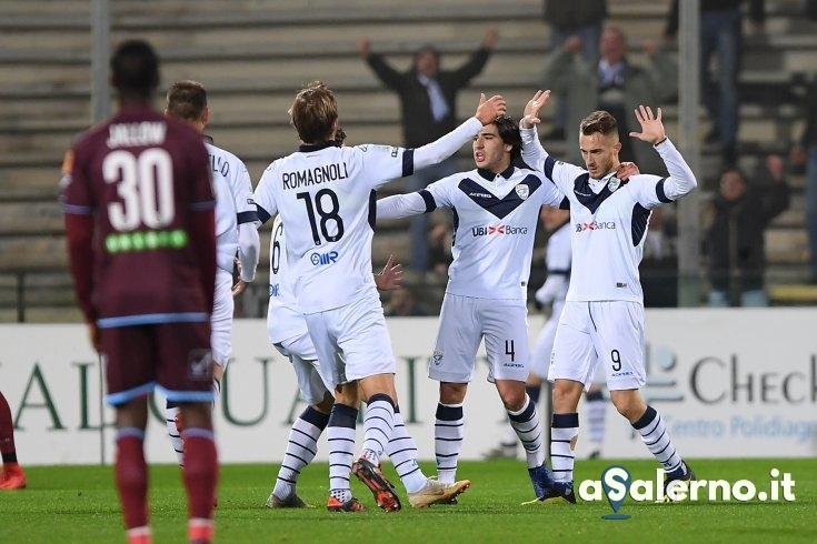 Salernitana, l'ex Donnarumma non perdona: Brescia avanti 3 a 0 (pt) - aSalerno.it