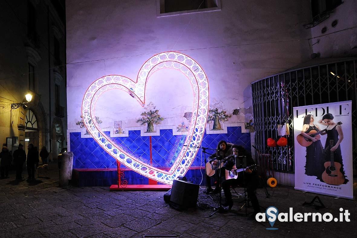 SAL - 14 02 2019 Salerno. Luminarie di San Valentino. Foto Tanopress