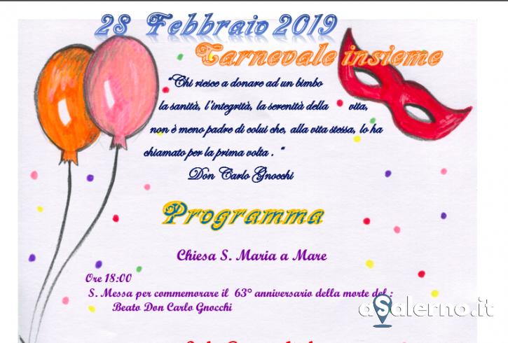 """""""Carnevale insieme"""": l'appuntamento nella parrocchia Santa Maria a Mare - aSalerno.it"""