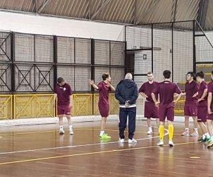 Alma Salerno rifinitura Futsal Parete