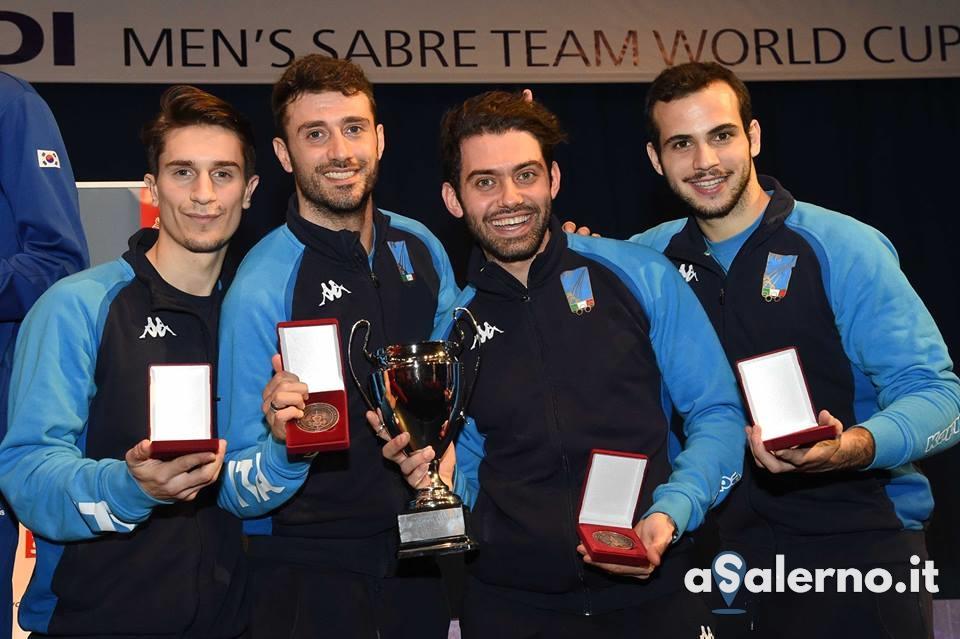ITALIA Sciabola Maschile podio BUDAPEST2019