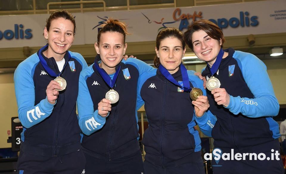 ITALIA Sciabola femminile Terzo posto ATENE2019