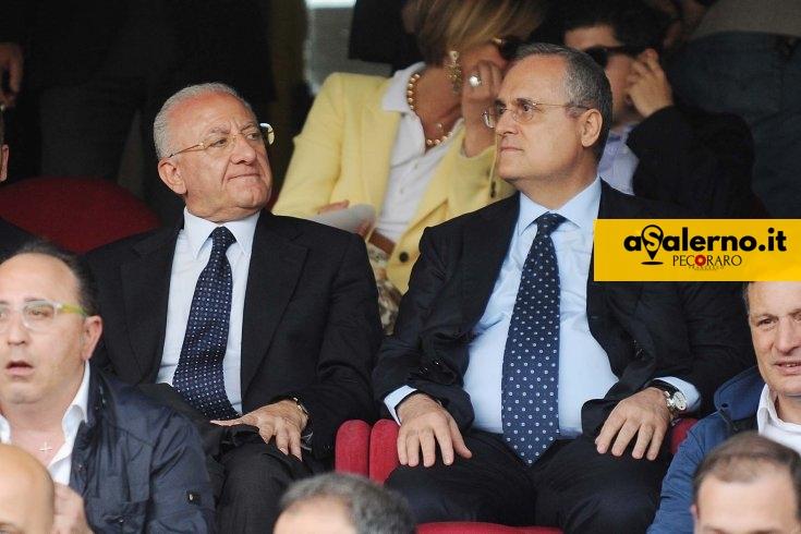 """De Luca """"messaggio"""" a Lotito: """"Metta mano alla tasca, che questa società chiarisca obiettivi"""" - aSalerno.it"""
