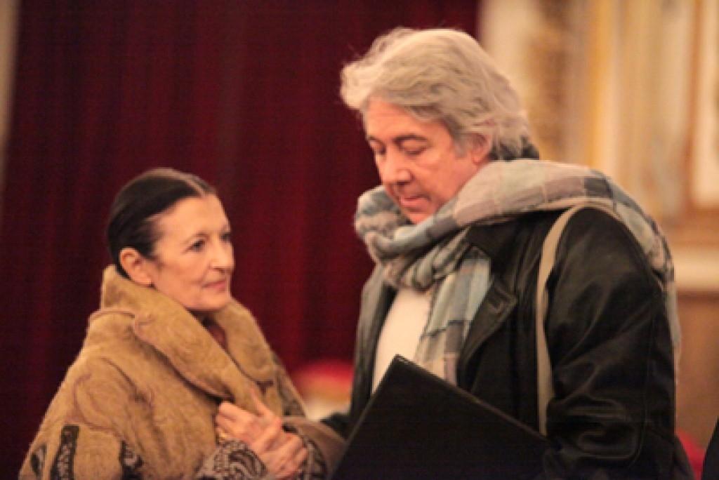Luc Bouy con Carla Fracci