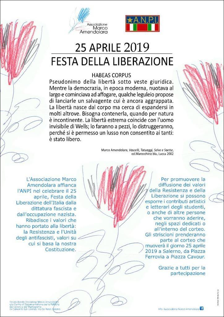 Locandina 25 aprile associazione Amendolara