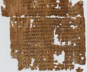 Genealogia di Gesù Cristo 1^ Cap.Vangelo di Matteo Papyrus_1_-_recto