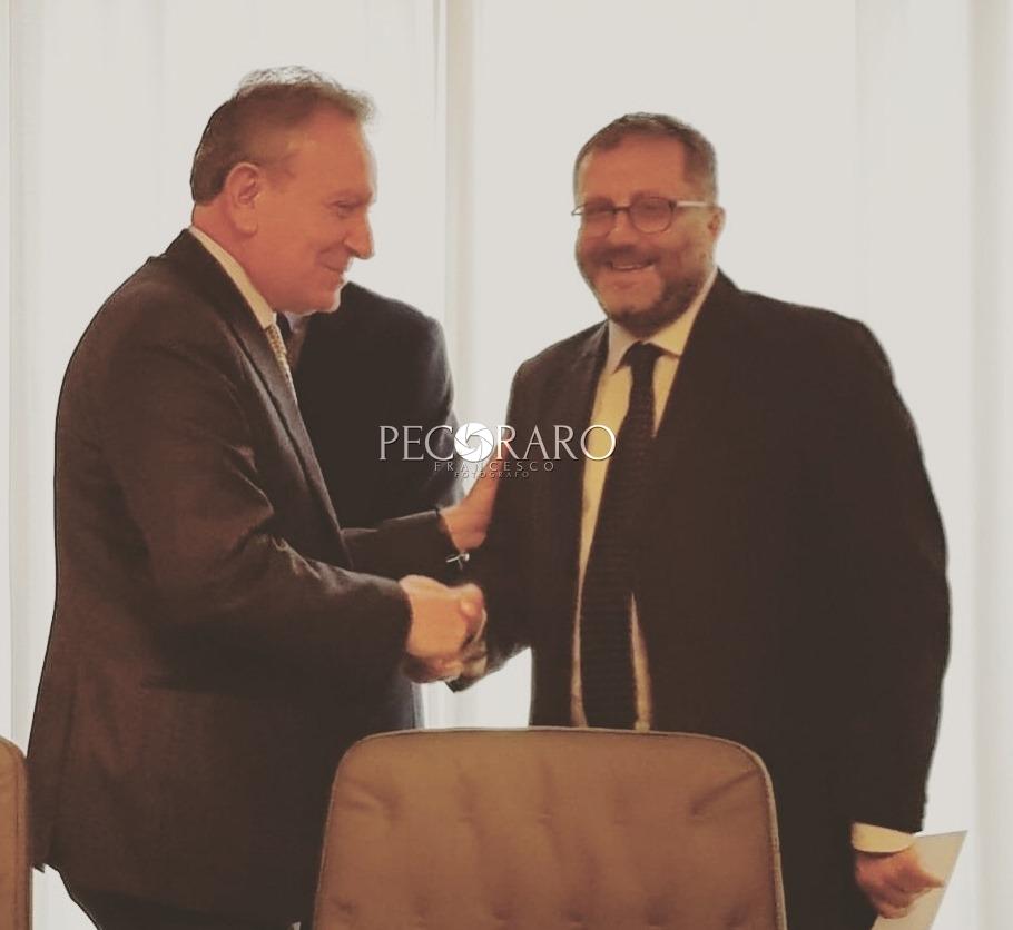 da sinistra a destra il presidente della Corte dei Conti Angelo Buscema e il giudice Vincenzo Del Regno