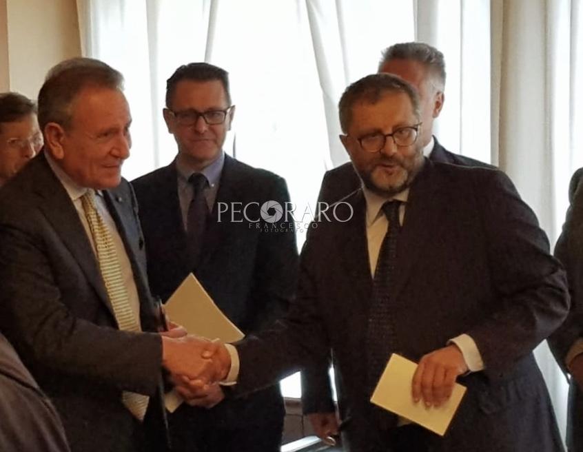 da sinistra a destra il presidente della Corte dei Conti Angelo Buscema e il giudice Vincenzo Del Regno_