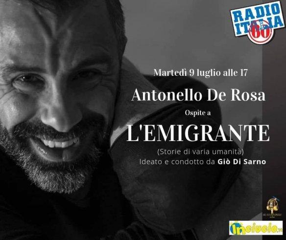 Teatro e Radio: De Rosa ospite di Radio Italia Anni 60 e della trasmissione L'Emigrante - aSalerno.it