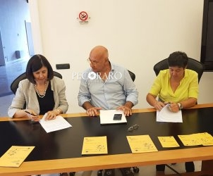 la firma del protocollo d'intesa tra Soprintedendenza e Fondazione Salernitana