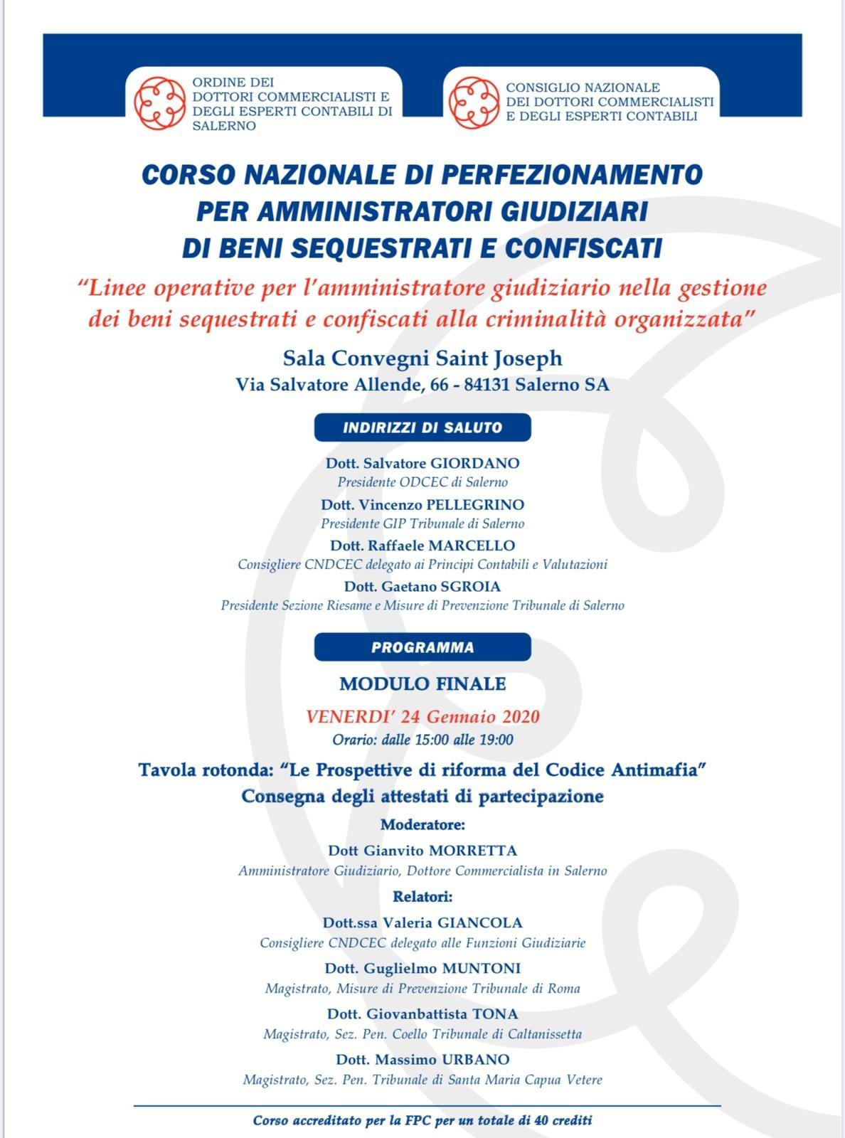 Locandina Corso AG Tavola Rotonda