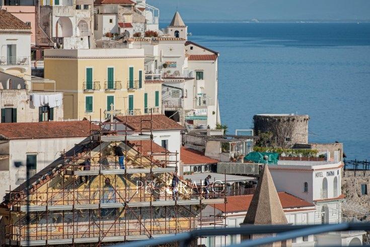 Il restauro della facciata per la Cattedrale di Amalfi – LE FOTO - aSalerno.it