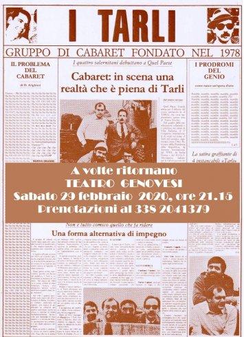 Al Teatro Genovesi il cabaret dei Tarli - aSalerno.it
