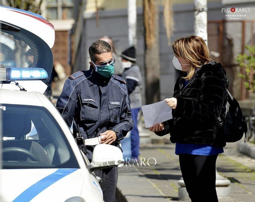 Salerno autocertificazione coronavirus