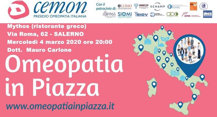Omeopatia e corretta alimentazione, conferenza dibattito da Mythos - aSalerno.it