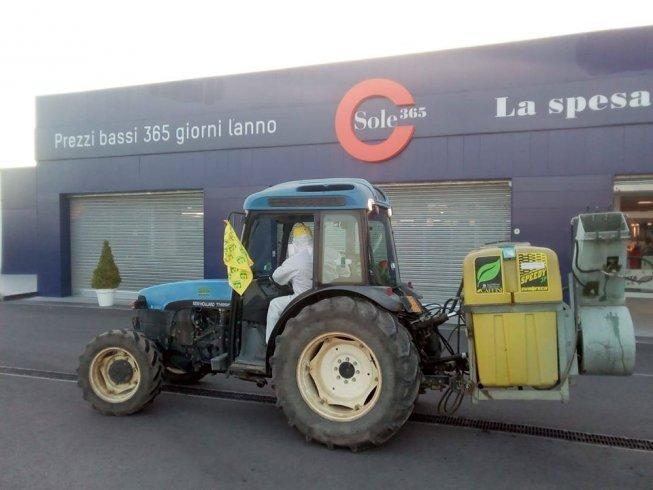 Anche a Serre i trattori Coldiretti in azione per sanificare le strade - aSalerno.it